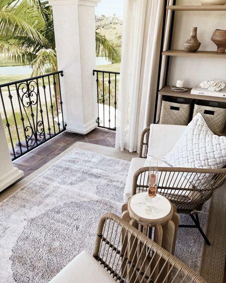 Outdoor decor, balcony decor, patio, stylinaylinhome   #LTKstyletip #LTKhome #LTKunder100