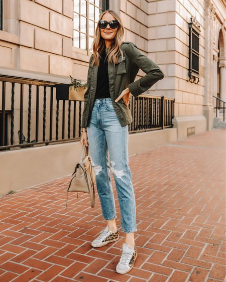 Love these leopard golden goose sneakers and I found them on sale! So good for pre fall outfits like this one! #goldengoose #aninebing   #LTKstyletip #LTKsalealert #LTKshoecrush