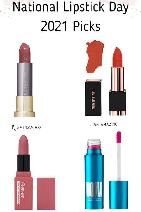 A few of my favorite lip products for National Lipstick Day 2021! Some are on sale right now!   #LTKbeauty #LTKunder50 #LTKsalealert