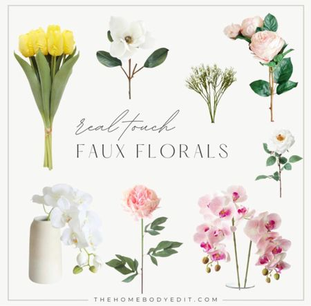 Spring florals and faux stems to brighten your home decor and decorate your home for spring and Easter! Follow for the best home decor tips and ideas!   #LTKhome #LTKSpringSale #LTKSeasonal