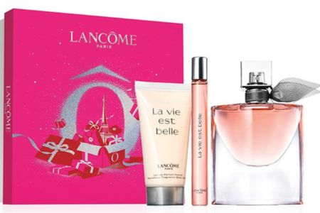 La Vie Est LaBelle...One of the best fragrances in the world! Lancôme fragrance is amazing and has amazing pear note, blackberry note, orange blossom note and more. The fragrance set comes with shower gel or lotion always during the holidays. Available at Macy's for pick up after you order online. A great quick gift before the holidays. #lancomefragrance #lavieestlabelle #juliarobertsfragrance #lancome You can instantly shop my looks by following me on the LIKEtoKNOW.it shopping app http://liketk.it/34k4d #liketkit @liketoknow.it