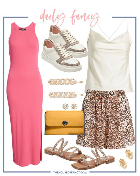Today's daily fancy is a mix of animal print and pops of color   #LTKstyletip #LTKSeasonal #LTKshoecrush
