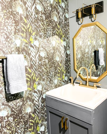 My Powder Room Refresh is almost complete and here are some of my favorite items for my  bathroom renovation. From peel and stick wallpaper, to modern vanity light fixture. I'm loving the gold details in the hexagon mirror and pops of texture with a wood frame.   http://liketk.it/39slu  #liketkit @liketoknow.it #LTKhome #LTKunder50 #LTKstyletip @liketoknow.it.brasil @liketoknow.it.europe @liketoknow.it.family @liketoknow.it.home Shop your screenshot of this pic with the LIKEtoKNOW.it shopping app