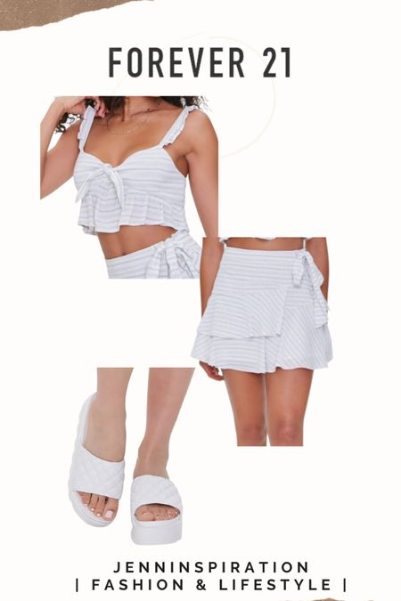Forever 21 ✨LTK DAY SALE✨   Striped crop top Striped mini skirt  Quilted platforms  summer, summer sale, summer outfits, summer time, beach day, casual day, girls night out, date night, cute, trendy, aesthetic, soft girl, picnic, travel, spring time, easy to wear, crop top skirt set, forever 21 sale, ltkday http://liketk.it/3hsXC #liketkit @liketoknow.it #LTKsalealert #LTKshoecrush #LTKstyletip Follow me on the LIKEtoKNOW.it shopping app to get the product details for this look and others