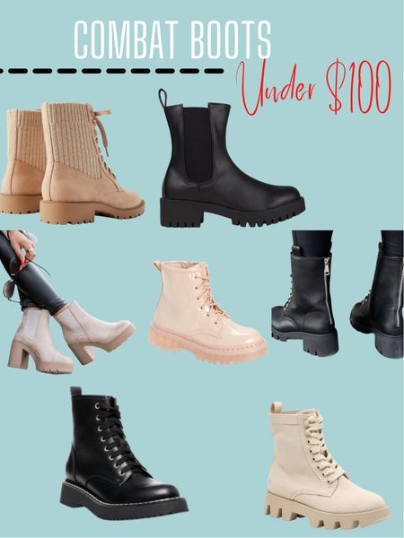 Combat boots under $100  #LTKunder50 #LTKshoecrush #LTKunder100