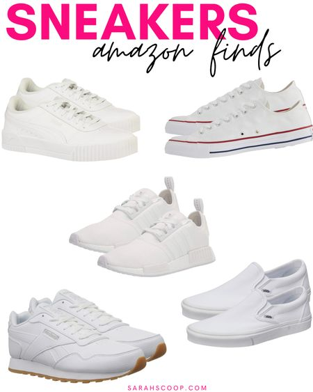 Here are some awesome classic sneakers that you can wear with any outfit! All of them can be found on Amazon! 🤍👟  #amazon#classicsneakers#vans#converse#nike#adidas#puma#reebok#whitesneakers#exercise#workingout#errands#stylish#amazonfinds#primewardrobe#amazonfashion#amazonsneakers  #LTKshoecrush #LTKunder100 #LTKstyletip
