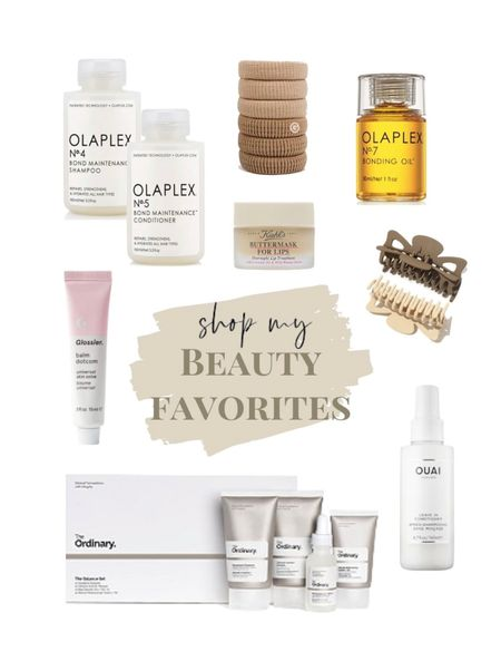 current beauty favorites🤎 in my cart. olaplex. the ordinary. claw clip. gimme beauty. hair tie. lip mask. chapstick.  #LTKunder50 #LTKbeauty #StayHomeWithLTK