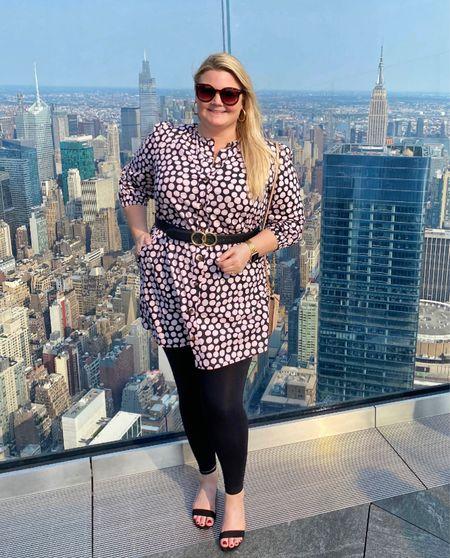 Polka dress was too short so I added leggings and a belt!   #LTKunder50 #LTKstyletip #LTKcurves