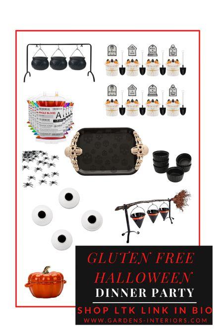 Gluten Free Halloween Dinner Party   #halloween #halloweendecor #halloweendinner #halloweendinnerparty  #LTKhome #LTKfamily #LTKSeasonal