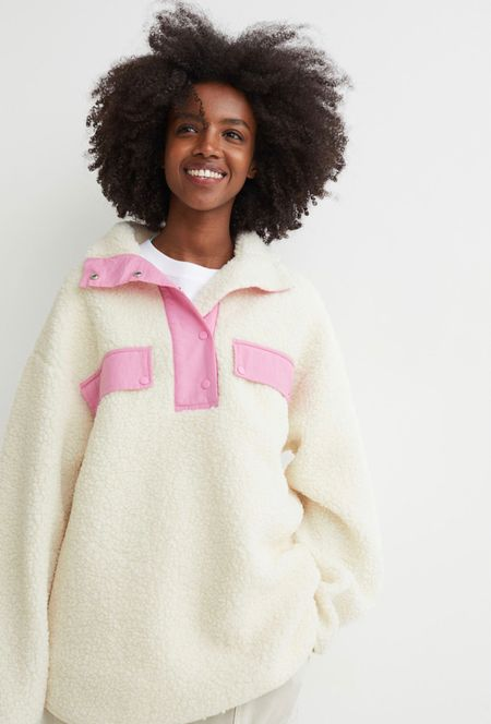I love the colors of this sherpa pullover and it's under $25!