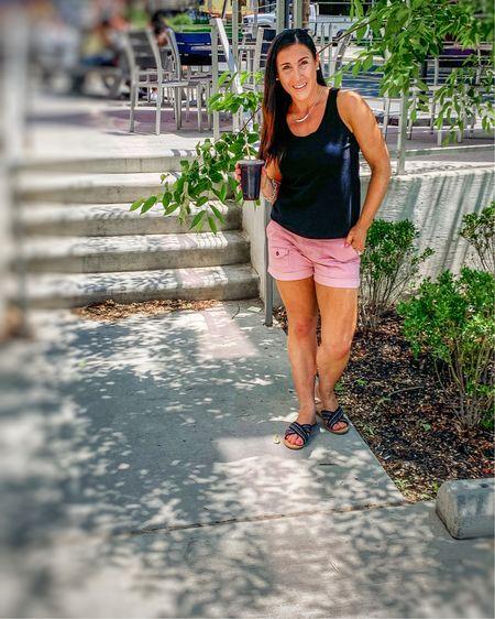 The comfiest pink shorts under $14 size down. Coffee shop vibes http://liketk.it/3fK02 #liketkit @liketoknow.it #LTKstyletip #LTKunder50 #LTKshoecrush