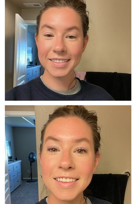before and after using my favorite mascara combo! 👀 also ignore my hair…getting it done today 🎉   #LTKstyletip #LTKunder50 #LTKbeauty