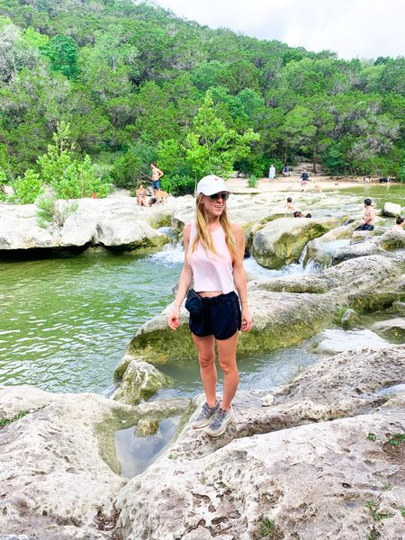 Austin Hiking essentials - black lululemon Fanny pack and insulated water bottle goes with me everywhere! Don't forget to bring a swimsuit to jump in the water! Also tagging my favorite hiking boots (that I forgot to bring!)   #LTKswim #LTKtravel #LTKfit