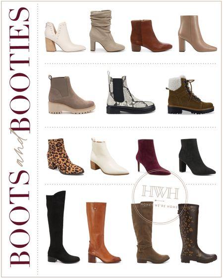 Boots and Booties  #LTKstyletip #LTKshoecrush #LTKSeasonal