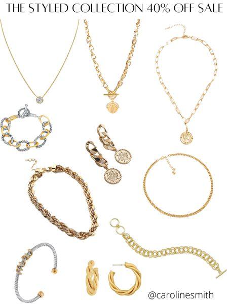 The Styled Collection 40% off sale  Necklace Bracelet David Yurman Dupe Chain necklace Trending   #LTKbeauty #LTKGiftGuide #LTKSale