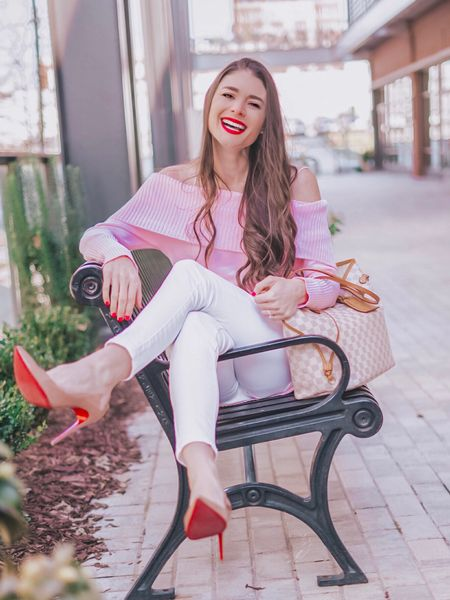 Red roses 🌹 red wine 🍷 or red bottoms 👠 - which would you want from your Valentine? 😍 I would love any of the above and also maybe a nice juicy red steak too 🥩 I linked my entire outfit - my sweater can also be worn as a dress if you size up - it's under $24!! Download the LIKEtoKNOW.it app to shop this pic via screenshot or check out http://liketk.it/2zGOn @liketoknow.it #liketkit #LTKshoecrush #LTKunder50 #LTKitbag #LTKstyletip
