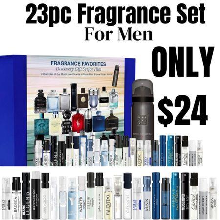 23pc men's fragrance set! Designer brand fragrances only $24. #liketkit http://liketk.it/3ghhm @liketoknow.it #LTKunder50 #LTKbeauty #LTKmens