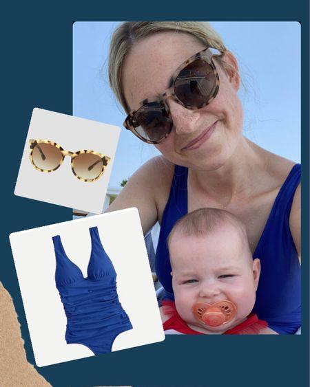 Mom suit, bathing suit, perfect mom swimsuit, flattering swimsuit, polarized target sunglasses, hot mom summer ootd http://liketk.it/3iZyD #LTKfamily #LTKswim #LTKunder100 #liketkit @liketoknow.it