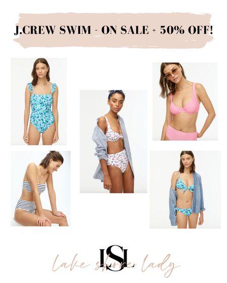 J.Crew Swim Sale! Markdowns + an extra 50% off! @liketoknow.it http://liketk.it/3fN8t #liketkit #LTKunder100 #LTKsalealert #LTKswim  J.Crew swim Jcrew bikini Jcrew bathing suits