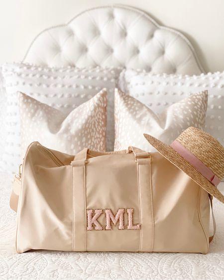 Headed on vacation for the next few days! 🤍  Stoney clover lane, bedding, antelope pillows, amazon   #LTKtravel #LTKunder100 #LTKitbag