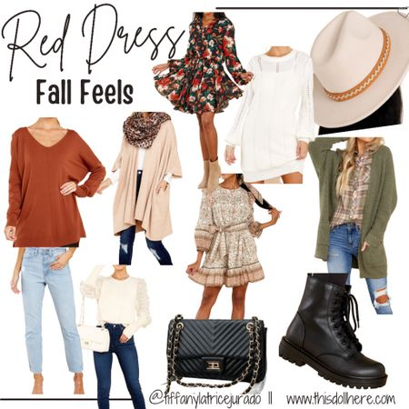 Fall fashion, cardigan, jeans, hat, boots, booties, black booties, dress, sweater dress,  #LTKSeasonal #LTKstyletip