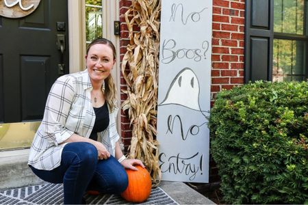 DIY Fall Porch Sign tutorial on the blog today myhomierhome.com/diy-porch-sign  #LTKunder100 #LTKhome