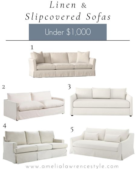 Looking for a new sofa?  Here are some lovely options under $1000 that are classic and timeless.   Sofa, slipcover, spring decor, living room   #StayHomeWithLTK #LTKhome #LTKstyletip