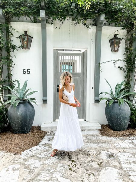 This pretty white dress is on sale this weekend. Would be perfect for family photos!   #LTKstyletip #LTKDay #LTKsalealert