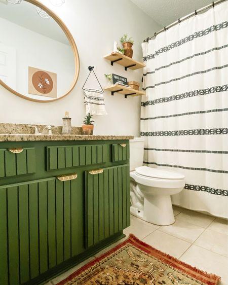 Small boho bathroom  http://liketk.it/3asoz #liketkit @liketoknow.it @liketoknow.it.home #StayHomeWithLTK #LTKhome #LTKfamily