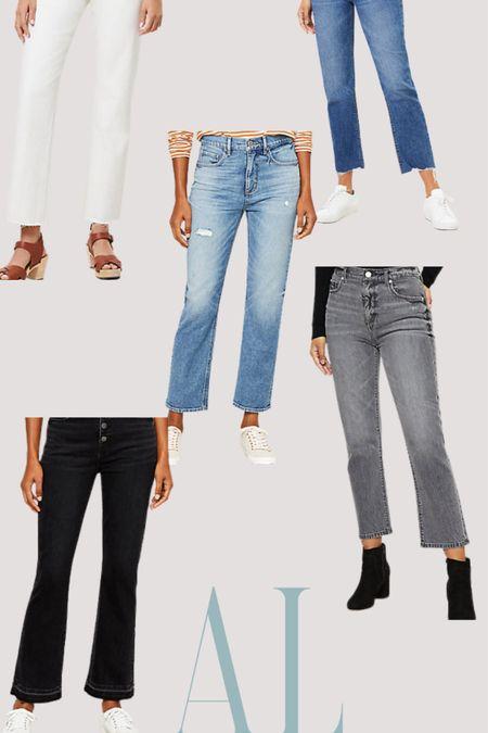 Bye bye skinny jeans, I finally found a trendy pair of jeans I LOVE. @liketoknow.it http://liketk.it/3akdf #liketkit #LTKunder50 #LTKstyletip #LTKsalealert #jeans #cropjeans #loftstyle