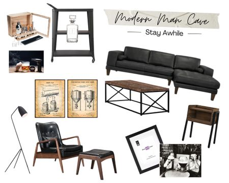 Who needs a she shed when you can crash this man cave? Keeping it simple, modern and far from tacky, these earth tones and textures make this room so… welcoming. Sit back, relax, and enjoy a smoked cocktail with your closest guy (and gal) pals! Follow me on the LIKEtoKNOW.it shopping app to get the product details for this look and others. http://liketk.it/3iVml @liketoknow.it.home  @liketoknow.it #liketkit #LTKhome #LTKmens #mancave #modern #home #decor #natural #neutrals #bar #welcome #friends