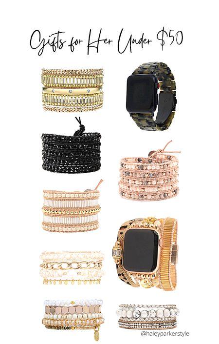 Gift ideas for her under $50 Victoria Emerson design gifts Bracelets  Apple Watch bracelet band   #LTKunder100 #LTKHoliday #LTKGiftGuide
