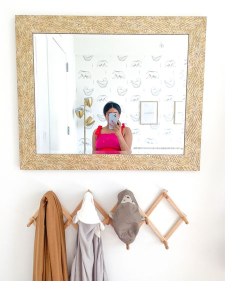 Nursery decor, mirror, wall mirror, nursery inspo, nursery ideas, home decor, home design, design, home inspiration http://liketk.it/3g97Y #liketkit @liketoknow.it  #LTKbaby #LTKhome #LTKbump