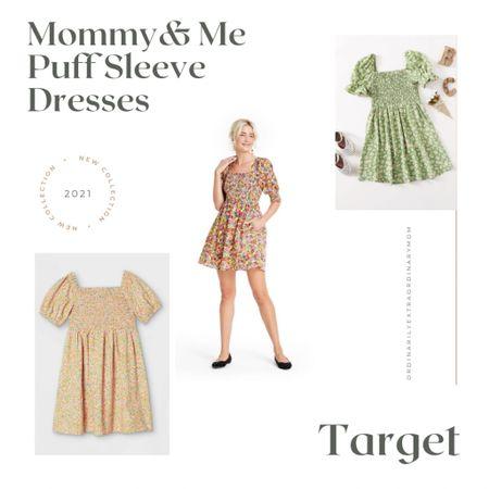 Puff sleeve mommy and me dresses http://liketk.it/3g6gj #liketkit @liketoknow.it #LTKfamily #LTKkids #LTKunder100