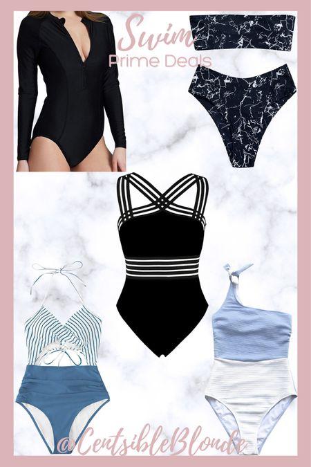 Amazon prime deals, Amazon swim, women's swimsuits, bathing suits, one piece.   http://liketk.it/3i9Zt #liketkit @liketoknow.it #LTKtravel #LTKsalealert #LTKunder50