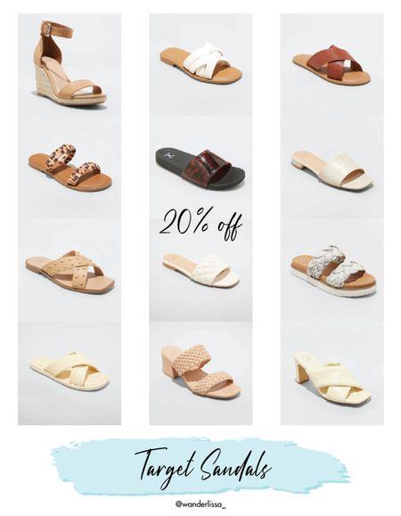20% off the cutest Target Sandals! 🎯   #LTKshoecrush #LTKunder50 #LTKSeasonal