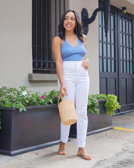 Favorite way to wear white jeans http://liketk.it/3hGSC @liketoknow.it #liketkit #LTKitbag #LTKshoecrush #LTKstyletip
