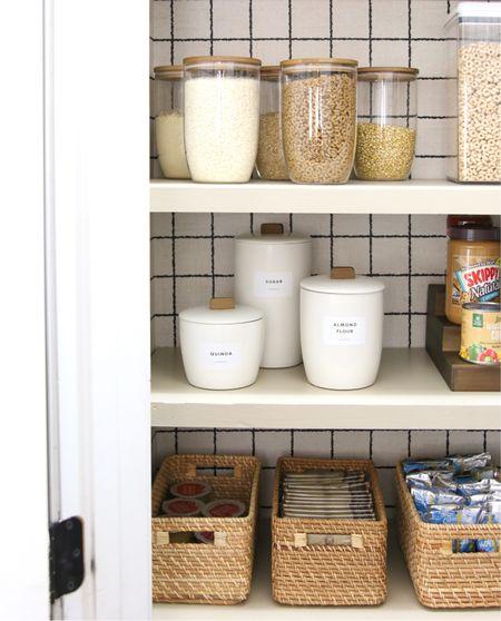Pantry organizer, pantry organization, kitchen organizing, food storage   #LTKunder50 #LTKunder100 #LTKhome