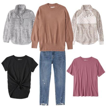 Cozy neutrals for the win   Save 25% off during the LTK Sale!  Cozy : fleece : Jeans : denim : Abercrombie : AF : capsule wardrobe : basics  #LTKsalealert #LTKSale #LTKunder50