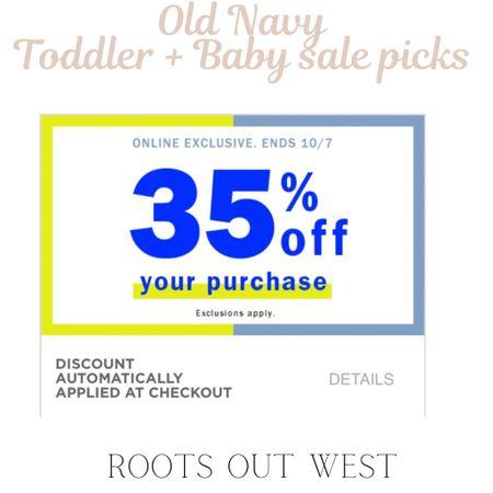 Old navy 35% off sale finds for toddler & baby   #LTKfamily #LTKkids #LTKsalealert