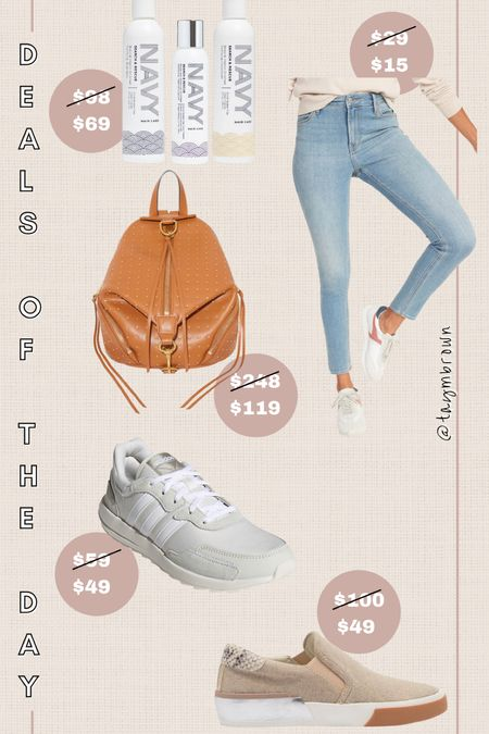 Daily deals, deals of the day  Navy hair care code STYLED = 30% off Leather backpack, backpack bag, retro sneakers, slip on sneakers   #LTKunder100 #LTKsalealert #LTKunder50