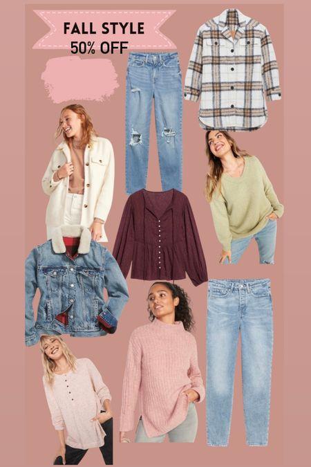 Old baby fall style 50% off Denim jacket  Shacket   #LTKstyletip #LTKSeasonal #LTKsalealert