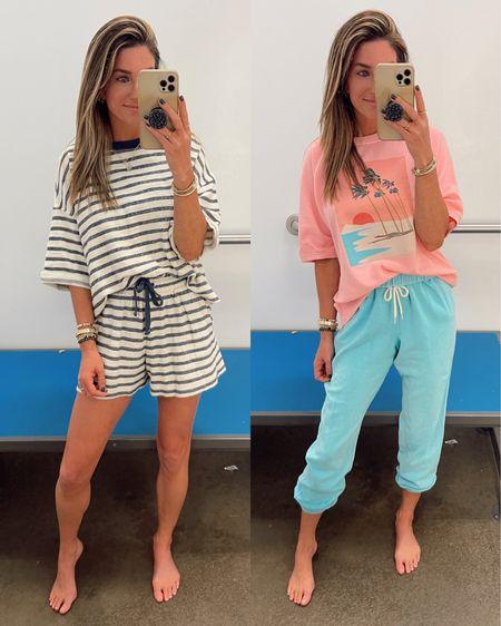 Striped fleece-terry is great for the beach! Both are great travel / vacation options. Wearing xs     http://liketk.it/3jLbA @liketoknow.it #liketkit #LTKtravel #LTKstyletip #LTKunder50