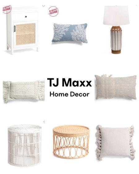 Tj maxx  Home decor Spring decor Throw pillows Lamps Table lamp Pouf Rattan table Wicker table Stool Boho home Anthro  http://liketk.it/37FKm #liketkit @liketoknow.it #LTKhome #LTKsalealert #LTKunder50
