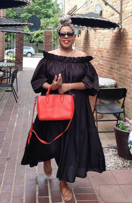 Wearing black to mourn Fall. Dresses for Fall.  Maxi Dresses HM  #LTKSeasonal #LTKunder100 #LTKsalealert