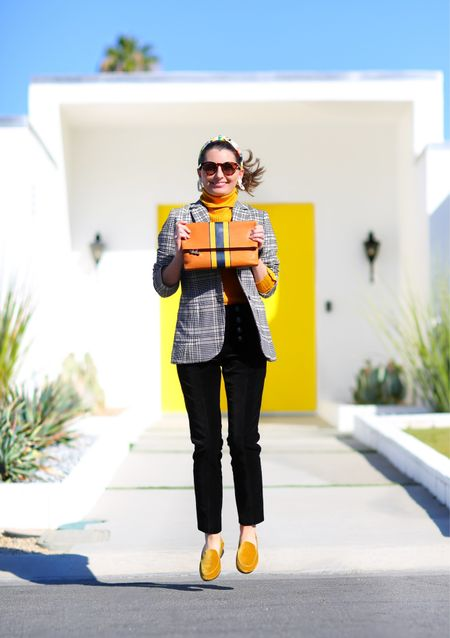 Risky Business vibes! FIT TIP: Everything is TTS (wearing S/4).  Obsessed with this blazer & equestrian-chic pants (they fit like a glove!). This clutch is…well, clutch. 🤣 JUMP if you love fall fashion!  #classicstyle #fallfashiom #preppy   #LTKitbag #LTKworkwear #LTKGiftGuide