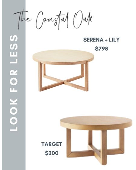 Found a great Serena and Lily look for less coffee table!   #LTKhome #LTKSeasonal