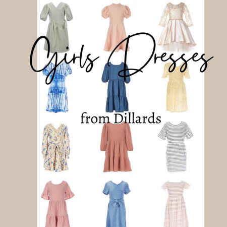 Dresses for girls ages 7-16 at Dillards and half are on sale!   #LTKkids #LTKunder50 #LTKsalealert
