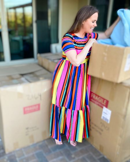 Summer Vacation Maxi Dress  Maxi.  Dress.  Colorful. Stripes.  Affordable.  Inexpensive.  Vacation.  Simple.  Comfortable. Easy.  Shein.  Poolside.  Mexico.  Palm Desert.  Palm Springs.  Warm weather.  Under 20   http://liketk.it/3gcCl #liketkit @liketoknow.it #LTKunder50 #LTKstyletip