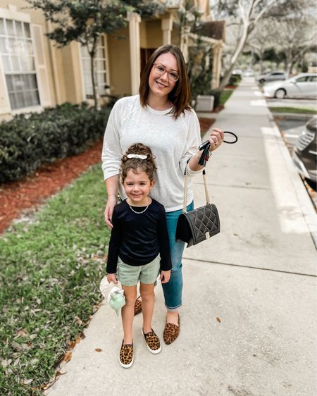 Mommy and me, casual outfits for mom and daughter, linen tee is relaxed fit and TTS, jeans have a ton of stretch and are ultra high rise straight fit   #LTKfamily #LTKkids #LTKcurves